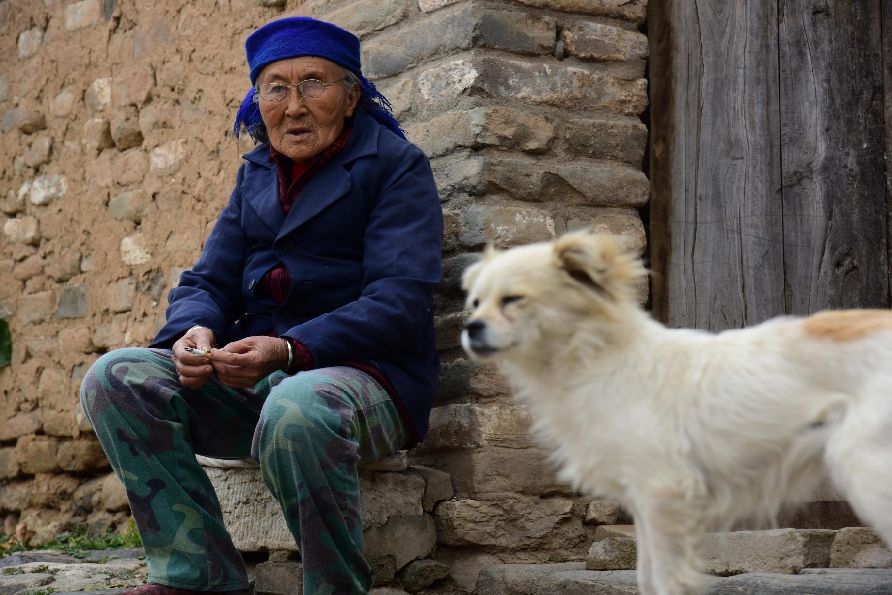 辘轳女人和狗_老人与狗,一如《辘轳女人和井》故事的缩影.