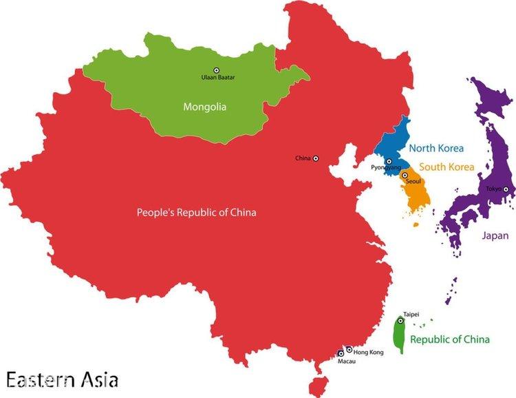 亚洲国家_亚洲国家的位置与国旗