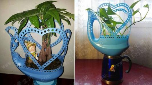 洗衣液瓶子做花盆