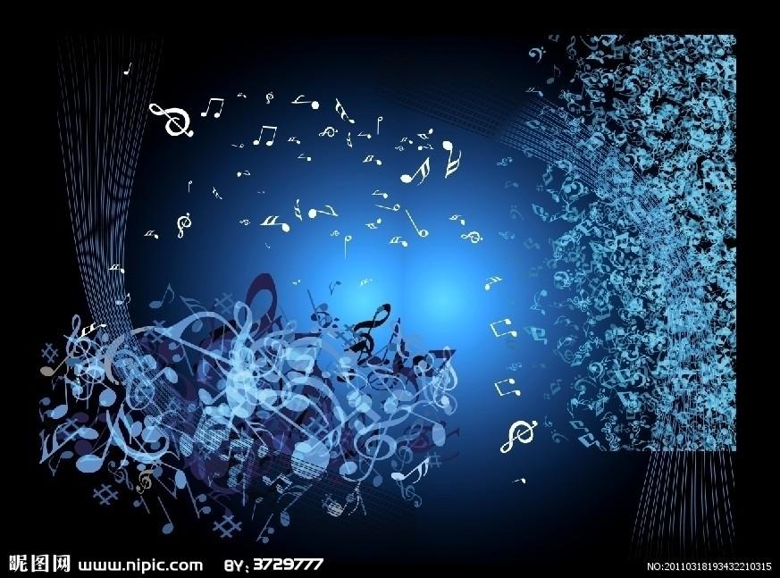蓝色音乐符号素材